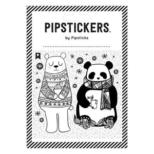 COLOR-IN WINTER BEARS - Stickers