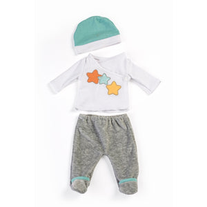 "2 Pcs PAJAMAS SET - Clothes for 15"" doll"