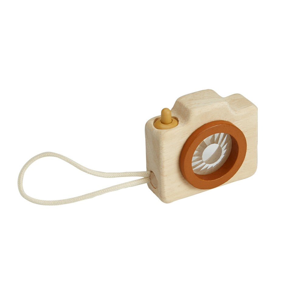 Mini Wooden Kaleidoscope Camera on white background Portland Toy Store