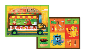 Monster Burger Two-Sided Puzzle