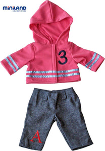 "Hoodie and Jean Set Clothes for 8"" Dolls"
