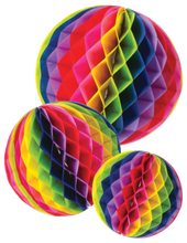 Load image into Gallery viewer, Rainbow Honeycomb Tissue Balls