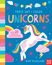 Load image into Gallery viewer, Press Out and Color: Unicorns