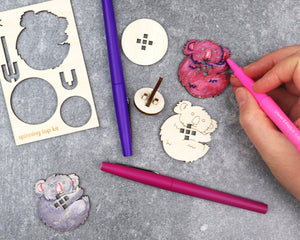 KOALA ANIMAL SPINNING TOP KIT