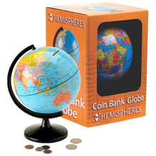 Load image into Gallery viewer, Coin Bank Globe