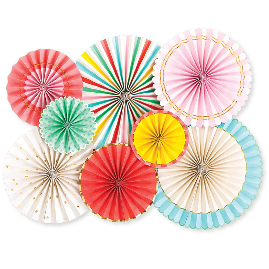 HIP HIP HOORAY PARTY FANS SET