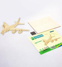 Load image into Gallery viewer, Civil Airplane - 3D Wooden Puzzle