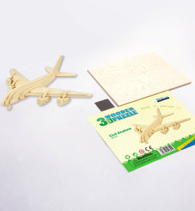 Civil Airplane - 3D Wooden Puzzle