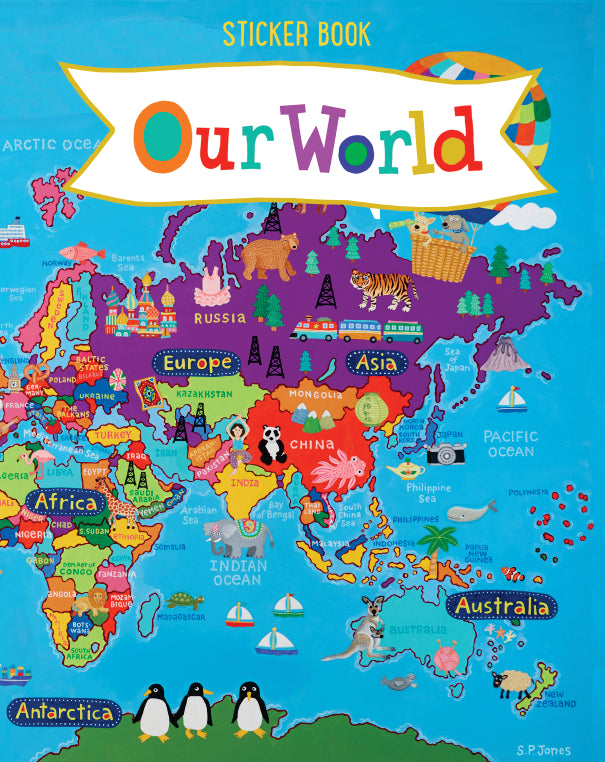 Our World Kid's Sticker Books