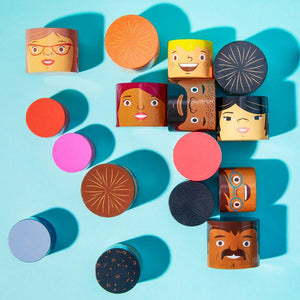 My Family Builders Mix & Match Wooden Blocks (32pc)