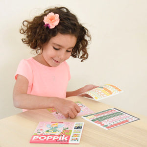 Poppik Magic Sticker Cards - 6 Cards + 360 Stickers (4-8 Years Old)