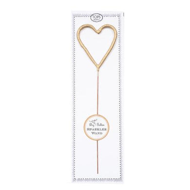 Big Golden Sparkler Wand Heart