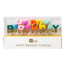 Load image into Gallery viewer, Birthday Brights Rainbow Happy Birthday Candles