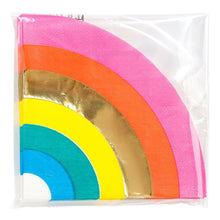 Load image into Gallery viewer, Birthday Brights Rainbow Shaped Napkin