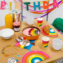 Load image into Gallery viewer, Birthday Brights Rainbow Shaped Plates