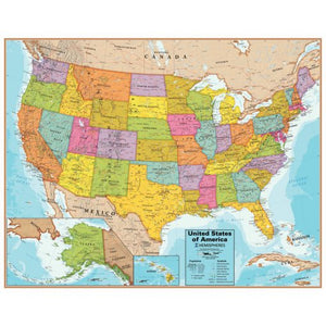 United States Interactive Wall Map