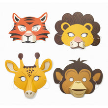 Load image into Gallery viewer, CREATE YOUR OWN JUNGLE ANIMAL MASKS