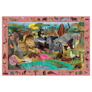 African Safari Search & Find Puzzle - 64pc