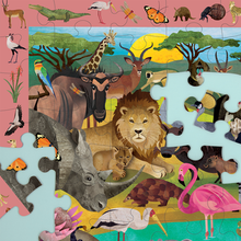 Load image into Gallery viewer, African Safari Search & Find Puzzle - 64pc
