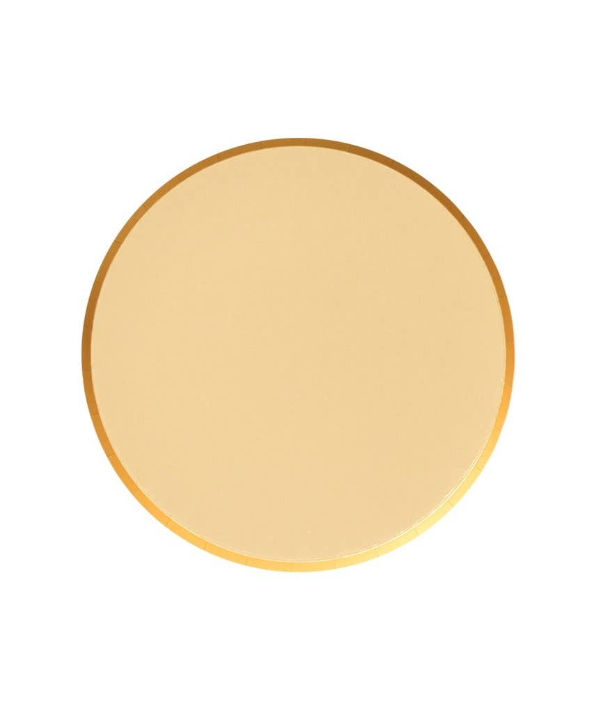 Golden Party Plates - 7 inch