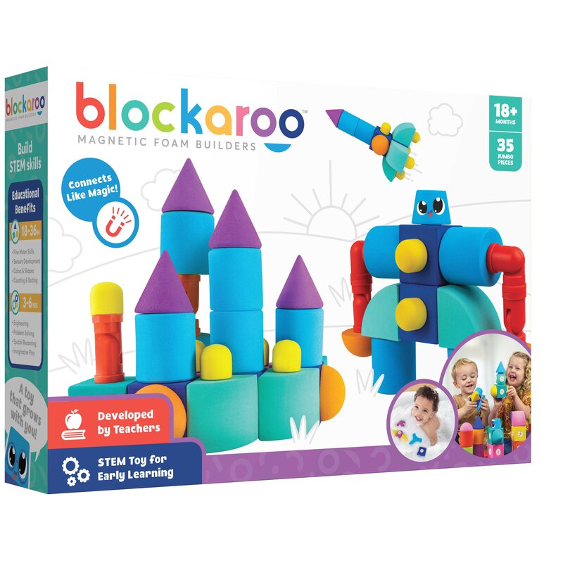 Castle - Blockaroo Magnetic Foam Blocks