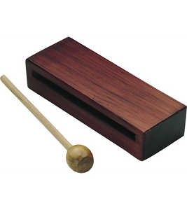 Wood Rhythm Block with Mallet Hardwood