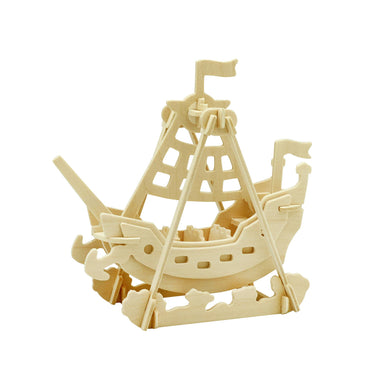 3D Wooden Puzzle: Swing Boat