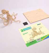 Load image into Gallery viewer, Octopus - 3D Wooden Puzzle