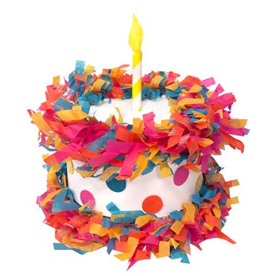 Mini Tabletop Piñata Brite Birthday Cake