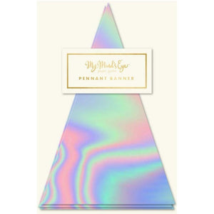 HOLOGRAPHIC PENNANT BANNER