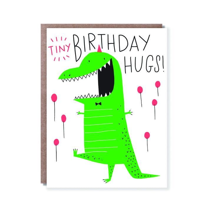 Tiny Hugs! Birthday card