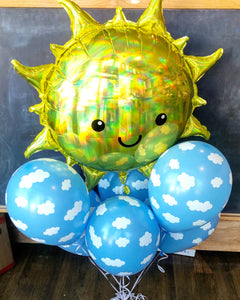 Mr. Blue Skies Balloon arrangement