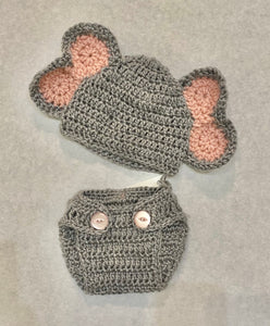 Elephant - Hat and Diaper Cover