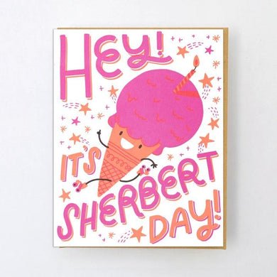 Sherbert Day, Birthday Card