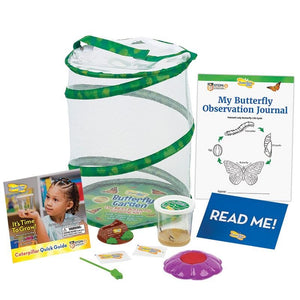 Butterfly Garden cage with instructional journal and accessories comes with a read me voucher