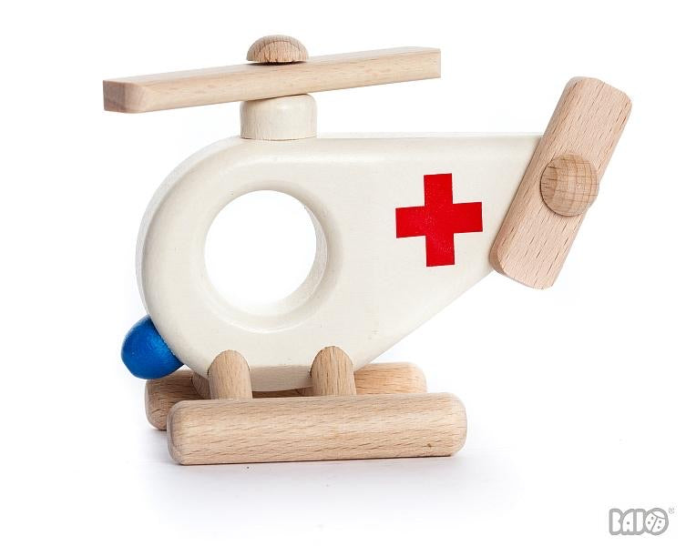 Wooden Ambulance Helicopter