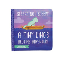 Load image into Gallery viewer, A Tiny Dino's Bedtime Adventure Board Book - Sleepy Not Sleepy