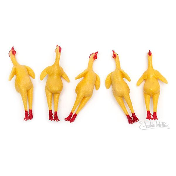 Tiny Pocket Rubber Chickens