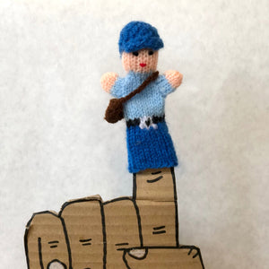 Knit finger puppets