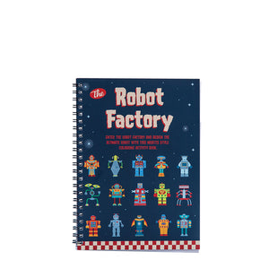 THE ROBOT FACTORY COLOUR IN FLIP BOOK
