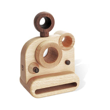 Load image into Gallery viewer, Polaroid Style Wooden Toy Camera with Kaleidoscope Lens