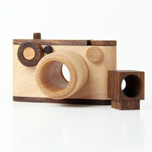 Load image into Gallery viewer, 35MM Vintage Wooden Toy Camera With Kaleidoscope Lens