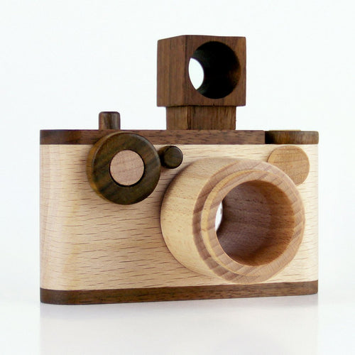 35MM Vintage Wooden Toy Camera With Kaleidoscope Lens