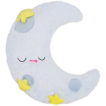 Load image into Gallery viewer, Crescent Sleeping Moon with yellow stars squishable toy for child portland toy store