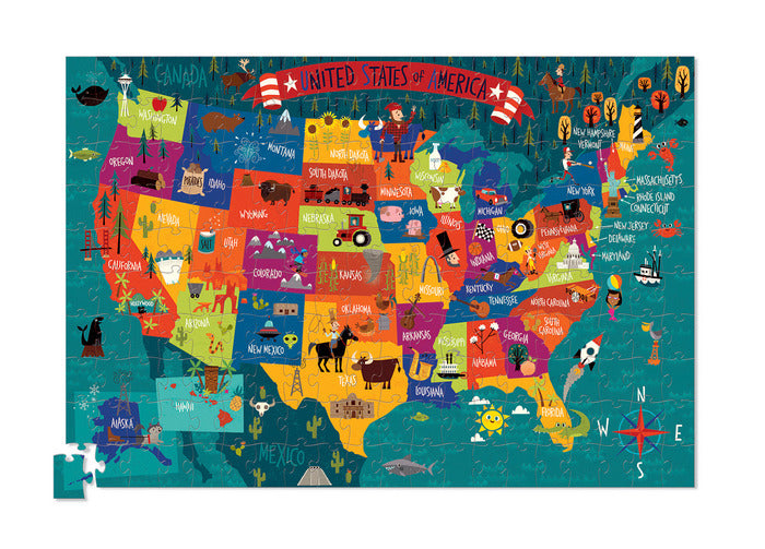 200-pc Puzzle + Poster/USA