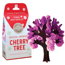 Load image into Gallery viewer, Pink crystals growing on paper tree branches portland toy store