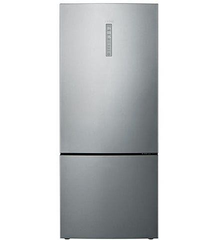 Haier HBM450SA1 Silver Bottom Mount Fridge Freezer