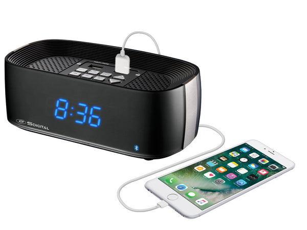 S Digital Bluetooth Clock Radio Q7-HOTEL