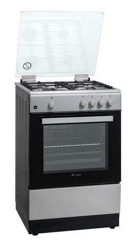 Award AFG102/1 Freestanding Gas Cooker with 4 burner gas hob and Glass Lid