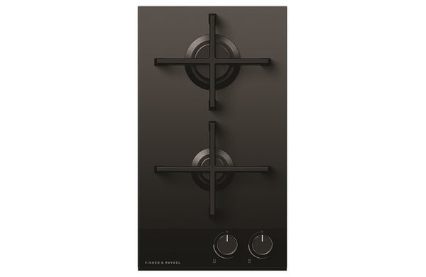 Fisher & Paykel  CG302DLPGB4  Cooktop Gas on Glass 2 Burner LPG